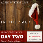 Charity begins at home | 12 days of giveaways IN THE SACK with Agent Mystery Case