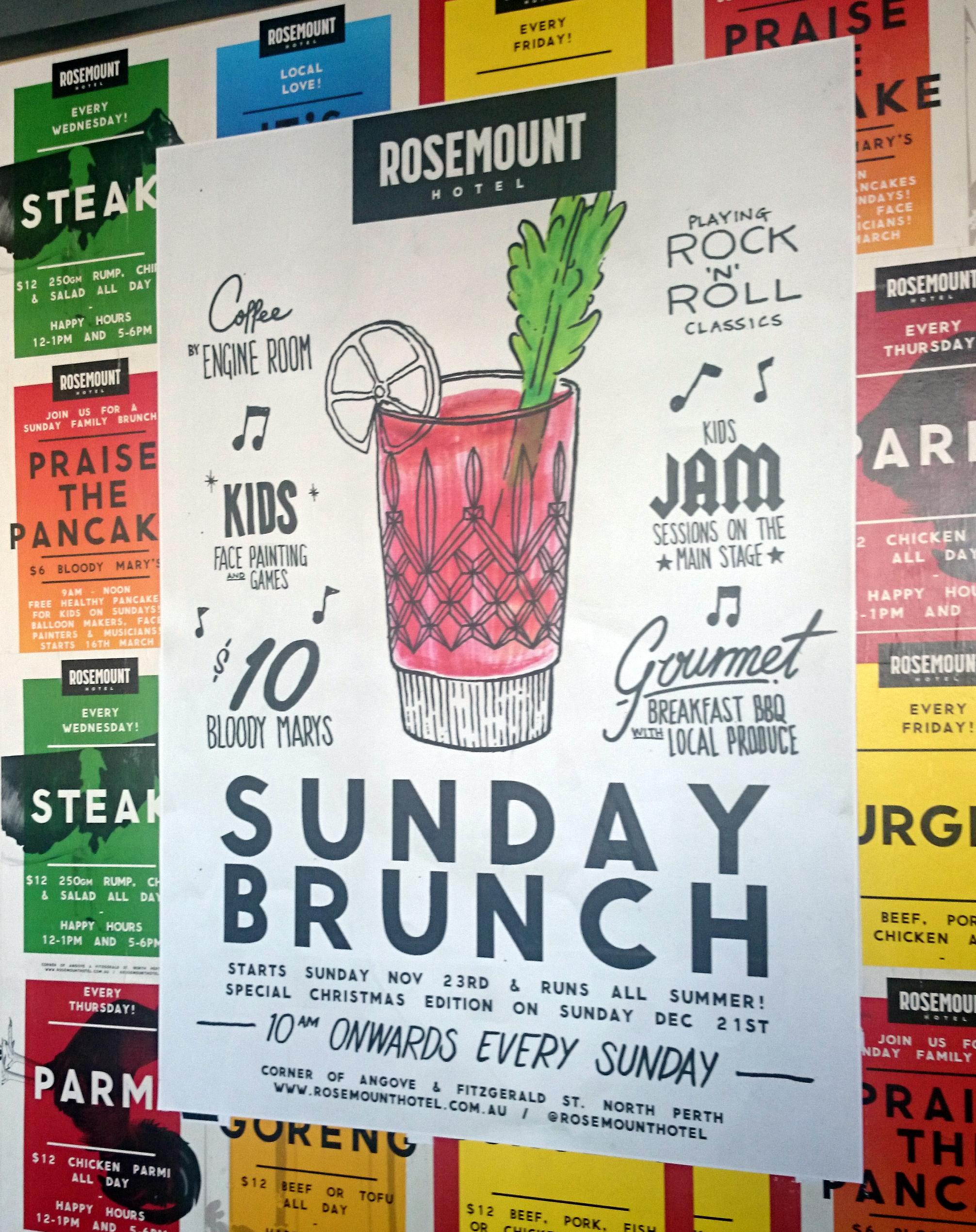 Rosemount-hotel-brunch-poster brunch review Agent Mystery Case