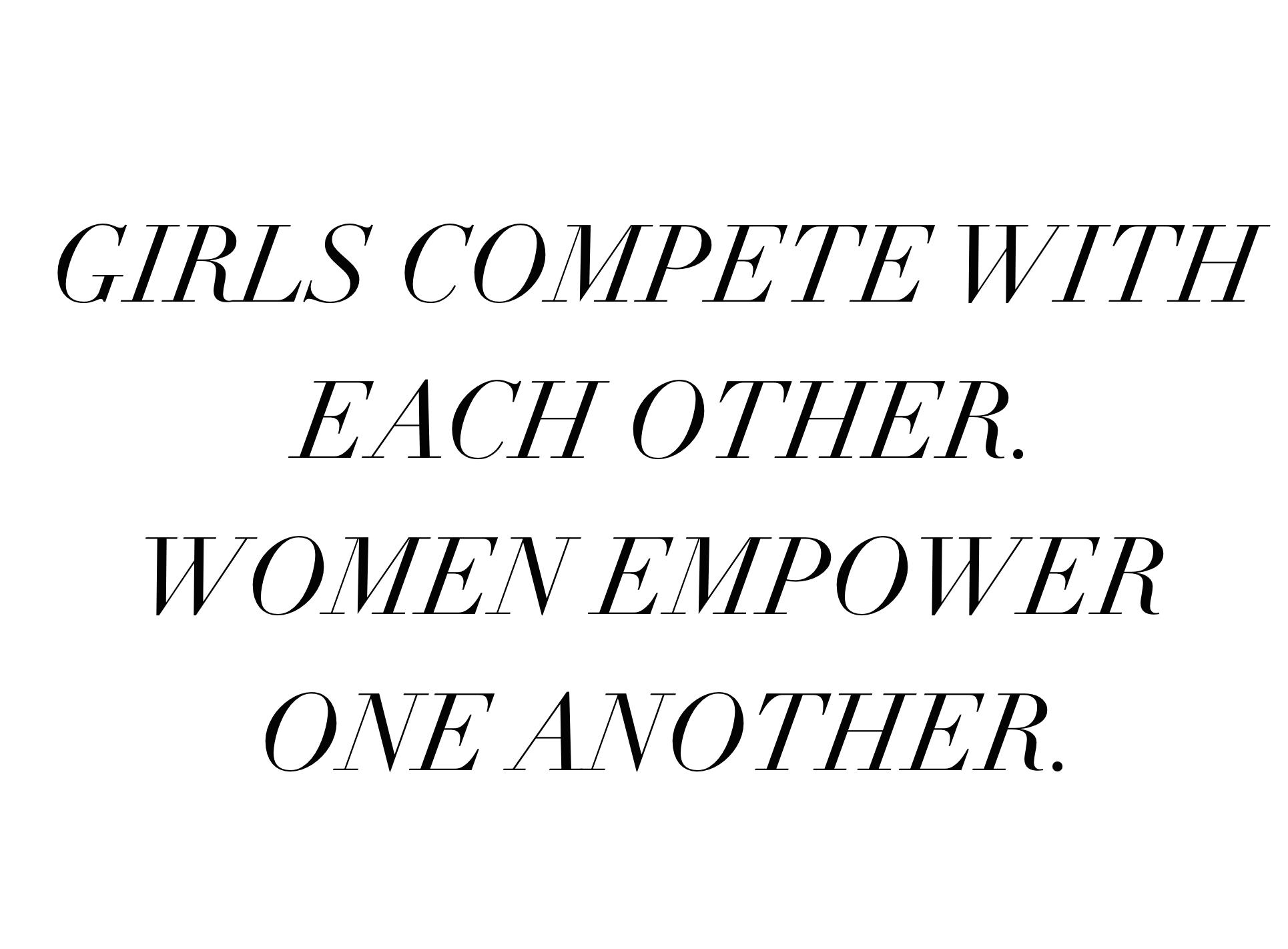women empower, girls compete