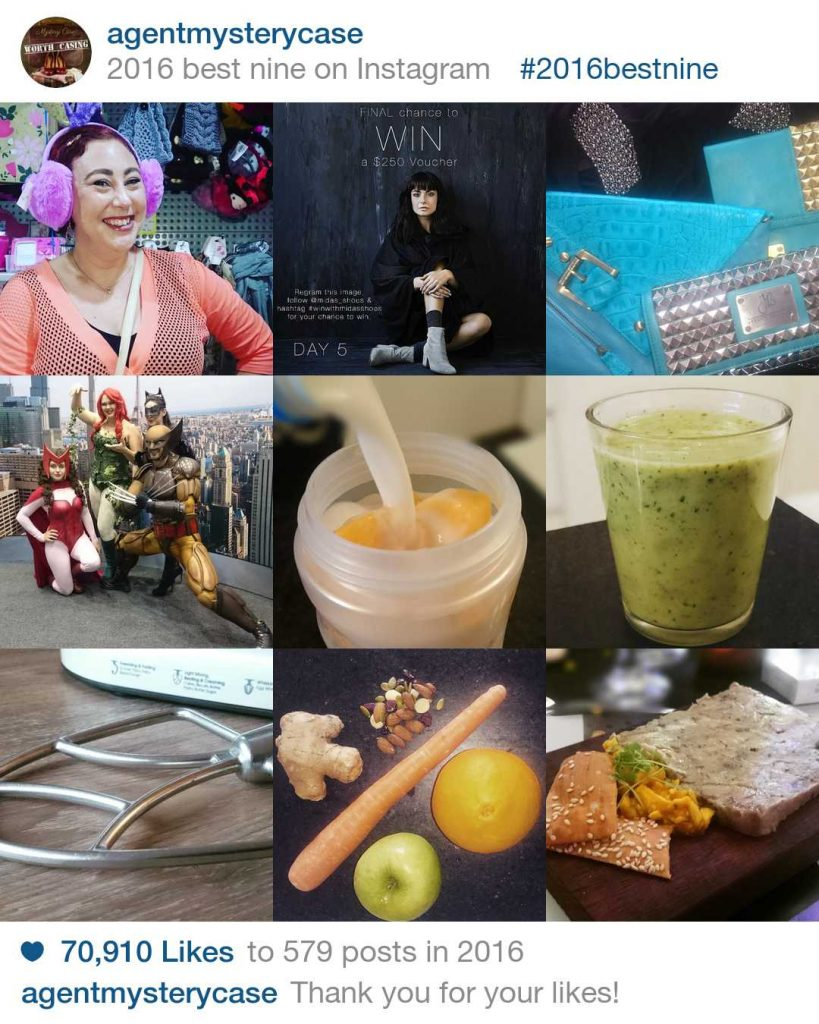new year reflections | agent mystery case top nine instagram posts