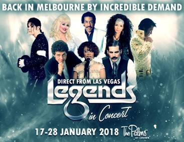 Melbourne giveaway; legends; tom jones, elvis; the palms crown perth; crown perth