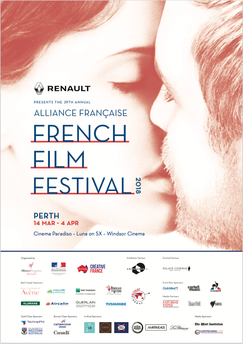 Thanks to The Alliance de Perth we are giving our members the chance to WIN in-season double passes toThe2018Alliance Française French Film Festival.
